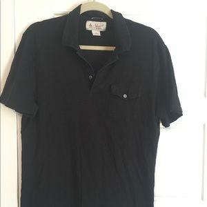 Black Original Penguin Heritage Slim Fit Polo